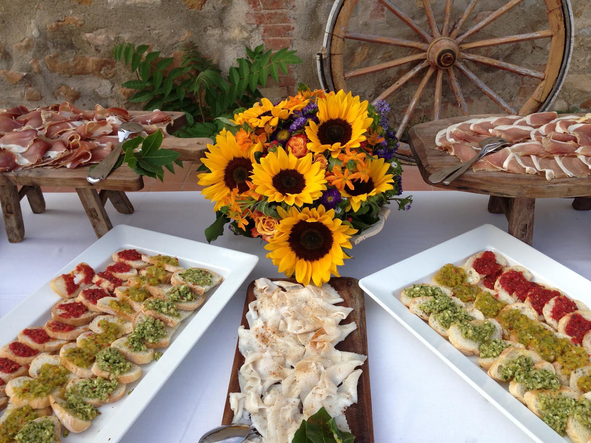 Buffet Matrimonio Rustico : Il cibo è la nostra storia